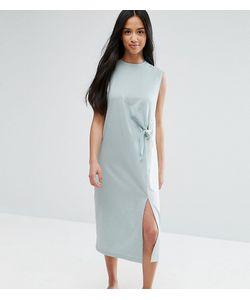 ASOS PETITE | Платье Миди Без Рукавов В Стиле Колор Блок С Необработанными Краями