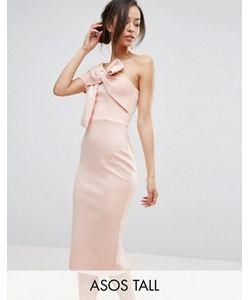 ASOS TALL | Платье Миди На Одно Плечо С Бантом
