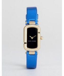 Marc Jacobs | Металлические Часы С Синим Кожаным Ремешком