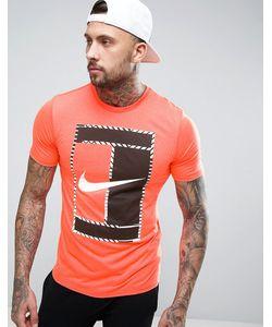 Nike | Оранжевая Футболка С Большим Логотипом 868770-877
