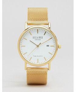 Reclaimed Vintage | Золотистые Часы С Сетчатым Ремешком