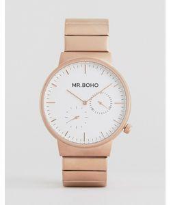 Mr Boho | Золотисто-Розовые Матовые Часы