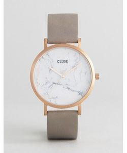 Cluse | Золотистые Часы С Серым Кожаным Ремешком La Roche Cl40005