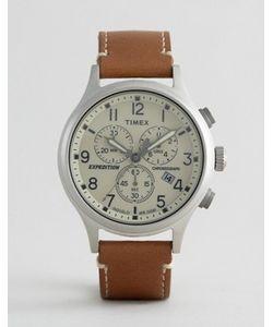 Timex | Часы С Хронографом И Светло-Коричневым Кожаным Ремешком Field Scout