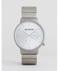 Mr Boho | Серебристые Матовые Часы