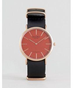Reclaimed Vintage | Часы С Кожаным Ремешком И Розовым Циферблатом