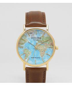 Reclaimed Vintage | Классические Часы С Принтом Атласа Мира Inspired Эксклюзивно Для