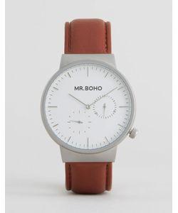 Mr Boho | Часы С Коричневым Кожаным Ремешком