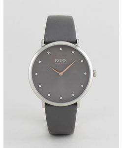 Hugo   Часы С Серым Кожаным Ремешком Boss By Boss 1502413 Jillian