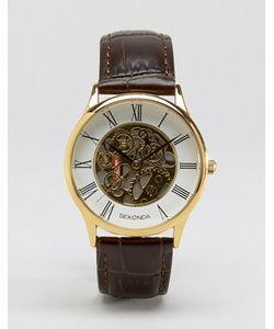 Sekonda | Часы С Золотистым Циферблатом И Кожаным Ремешком Эксклюзивно Для