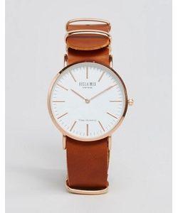 Reclaimed Vintage | Часы Со Светло-Коричневым Кожаным Ремешком