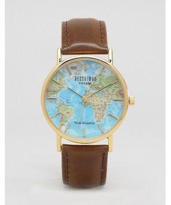 Reclaimed Vintage | Классические Часы С Принтом Карта Мира