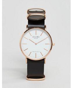 Reclaimed Vintage | Часы С Черным Кожаным Ремешком