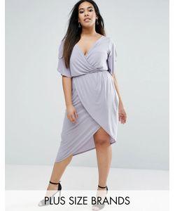 Club L | Асимметричное Платье С Рукавами Клеш Plus