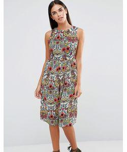 AX Paris   Платье Миди С Цветочным Принтом Vintage