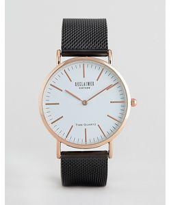 Reclaimed Vintage | Часы С Черным Сетчатым Ремешком