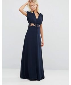 JARLO | Платье Макси Со Вставкой-Кроше Kelly