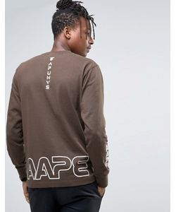 AAPE | Лонгслив С Камуфляжным Логотипом By A Bathing Ape