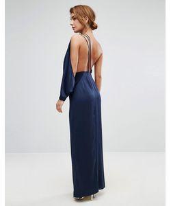 Asos | Платье Макси На Одно Плечо С Драпировкой