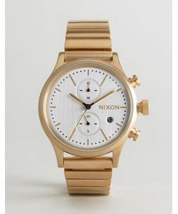 Nixon | Золотистые Часы С Хронографом Station