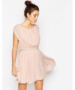 Asos | Короткое Приталенное Платье С Декорированной Талией