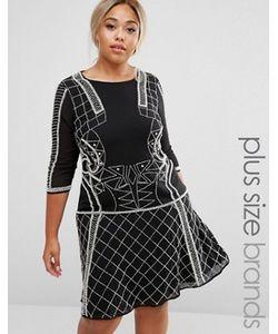 Lovedrobe Luxe | Платье С Отделкой И Расклешенной Юбкой