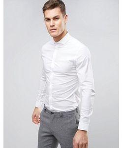 Asos | Зауженная Рубашка Со Срезанным Воротником