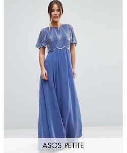 ASOS PETITE | Декорированное Платье Макси С Фигурными Краями