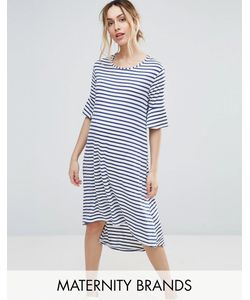 Bluebelle Maternity | Платье В Полоску С Асимметричным Краем Bluebelle