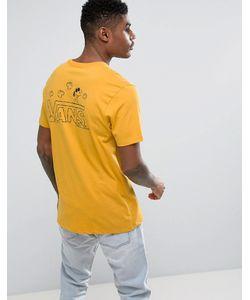 Vans | Желтая Классическая Футболка С Принтом Снупи X Peanuts Va36lb50x