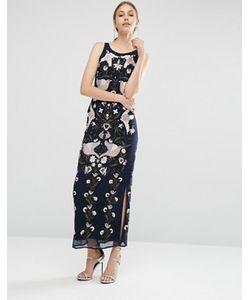 Frock and Frill | Платье Макси С Вышивкой И Отделкой Бисером