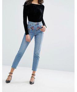 Miss Selfridge | Джинсы В Винтажном Стиле С Цветочной Вышивкой Jeans
