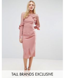 True Decadence Tall | Платье С Кружевными Вставками И Оборками