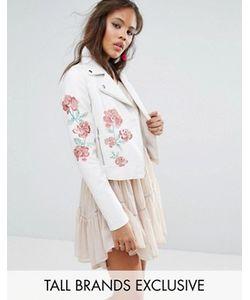 Glamorous Tall   Байкерская Куртка С Заклепками И Вышивкой