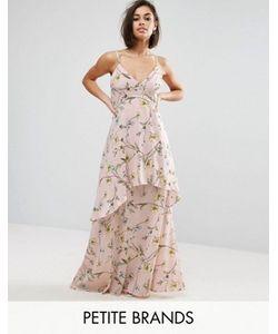 Boohoo Petite | Шифоновое Платье Макси С Цветочным Принтом