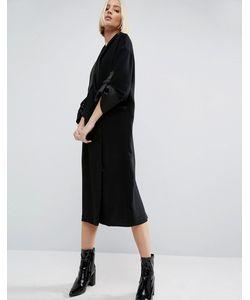 ASOS WHITE | Платье Миди С Атласной Отделкой