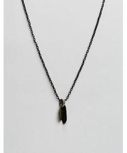 Icon Brand | Черное Ожерелье С Подвеской