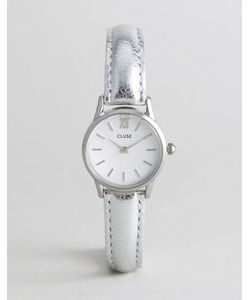 Cluse | Часы С Серебристым Корпусом И Кожаным Ремешком Vedette
