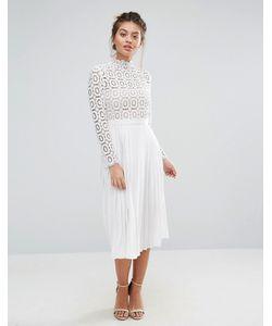 Little Mistress | Кружевное Плиссированное Платье Миди Premium