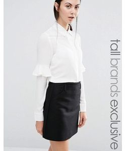 Fashion Union Tall | Блузка С Оборкой На Рукавах