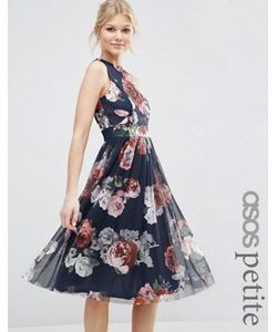 ASOS PETITE | Платье Миди С Цветочным Принтом
