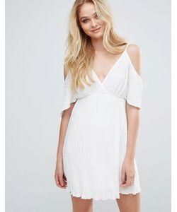 Love | Плиссированное Платье С Открытыми Плечами