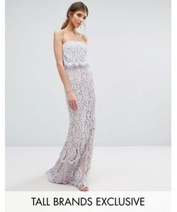 Jarlo Tall | All Over Lace Bandeau Maxi Dress