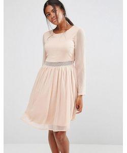 Y.A.S. | Платье С Длинными Рукавами И Кружевной Вставкой Y.A.S Marissa