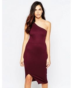 Twin Sister | Облегающее Платье Миди На Одно Плечо