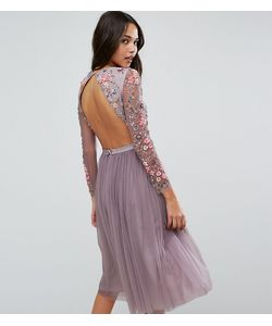 Needle & Thread   Платье Миди Из Тюля