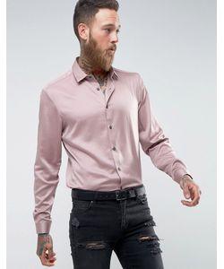 Asos | Атласная Рубашка Классического Кроя