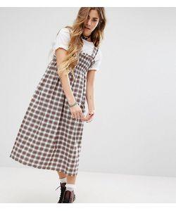 Reclaimed Vintage | Клетчатое Платье Миди С Присборенной Отделкой
