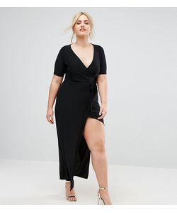 Club L   Платье Макси С Запахом Plus