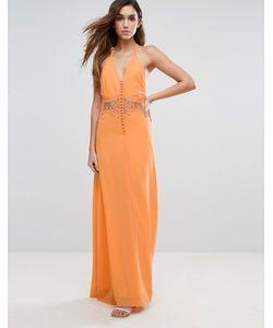 JARLO | Платье Макси С Кружевной Вставкой
